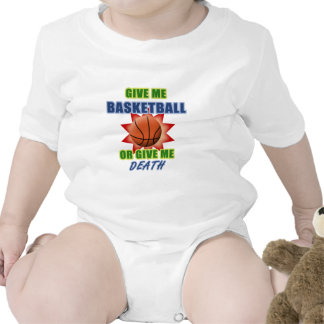 Give Me Basketball or Give Me Death Baby Bodysuits