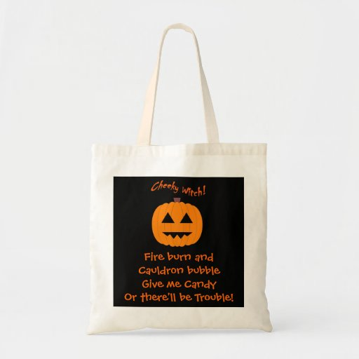 Give me Candy! Cheeky Witch Trick or Treat Bag