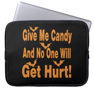 Give Me Candy No One Will Get Hurt Laptop Sleeve