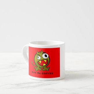 Give Me Coffee Alien Humor 6 Oz Ceramic Espresso Cup