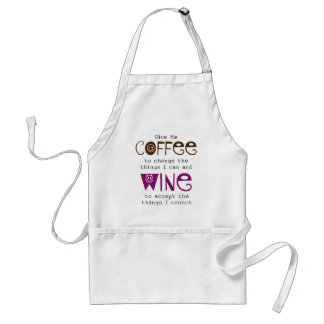 Give Me Coffee and Wine Apron