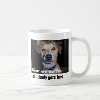Give me coffee classic white coffee mug