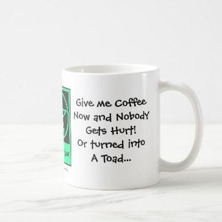 Give me Coffee Now Cheeky Witch Coffee Cup Mug