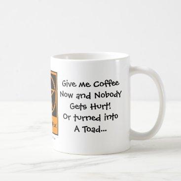 Halloween Themed Give me Coffee Now! Cheeky Witch Coffee Cup/Mug Coffee Mug