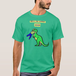 Give me coffee NOW! Humorous TRex T-Shirt