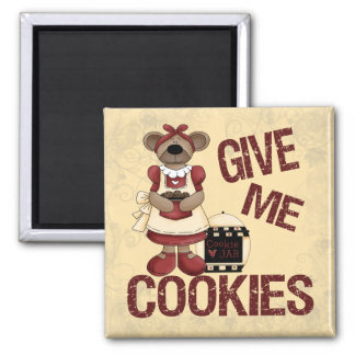 Give Me Cookies Refrigerator Magnets