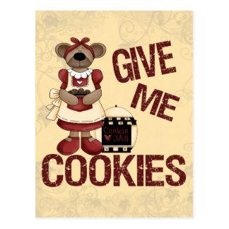 Give Me Cookies Postcard