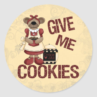Give Me Cookies Round Sticker