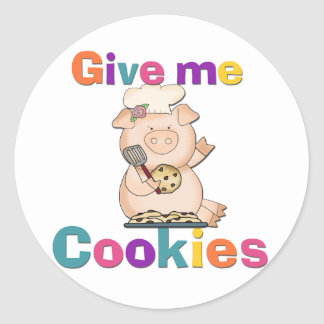 Give Me Cookies Tshirts and Gifts Classic Round Sticker