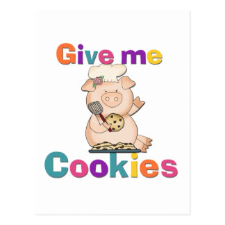 Give Me Cookies Tshirts and Gifts Postcard