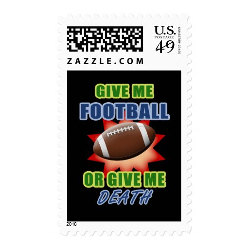 Give Me Football or Give Me Death Stamp