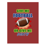 Give Me Football or Give Me Death Postcard