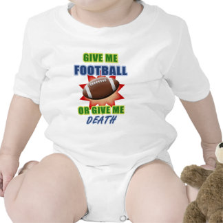 Give Me Football or Give Me Death Rompers