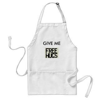 GIVE ME FREE HUGS ADULT APRON