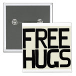 GIVE ME FREE HUGS BUTTONS