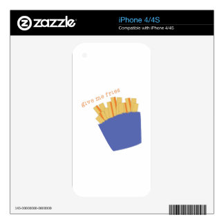 Give Me Fries Decals For The iPhone 4S