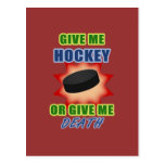 Give Me Hockey or Give Me Death Post Cards