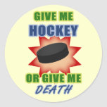 Give Me Hockey or Give Me Death Sticker