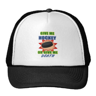 Give Me Hockey or Give Me Death Trucker Hat