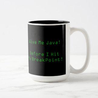 Give Me Java Two-Tone Coffee Mug