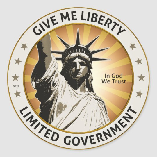Give Me Liberty Classic Round Sticker