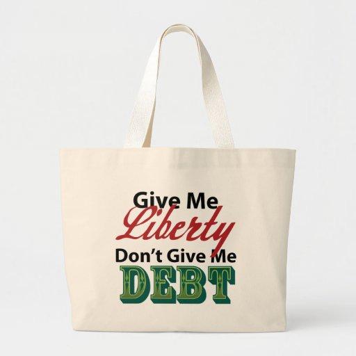 Give Me Liberty Don't Give Me Debt Jumbo Tote Bag