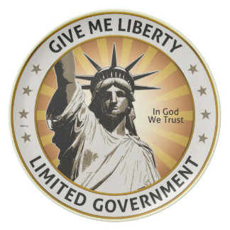 Give Me Liberty Melamine Plate