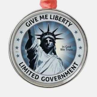 Give Me Liberty Metal Ornament
