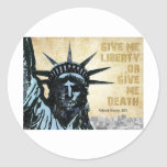 Give Me Liberty Round Stickers