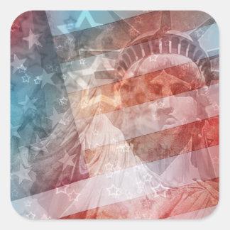 Give Me Liberty Square Sticker