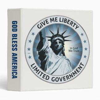 Give Me Liberty Vinyl Binders