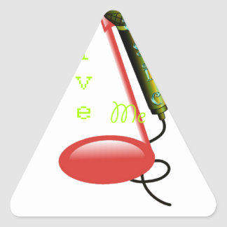 Give me Music Note Node Triangle Sticker
