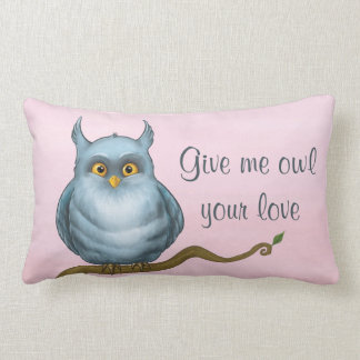 Give me owl your love throw pillow