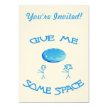 "Give Me Some Space Frisbee 5"" X 7"" Invitation Card"