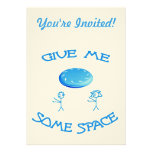 Give Me Some Space Frisbee Personalized Announcement