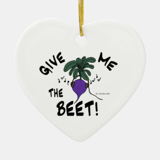 Give Me The Beet Ceramic Ornament