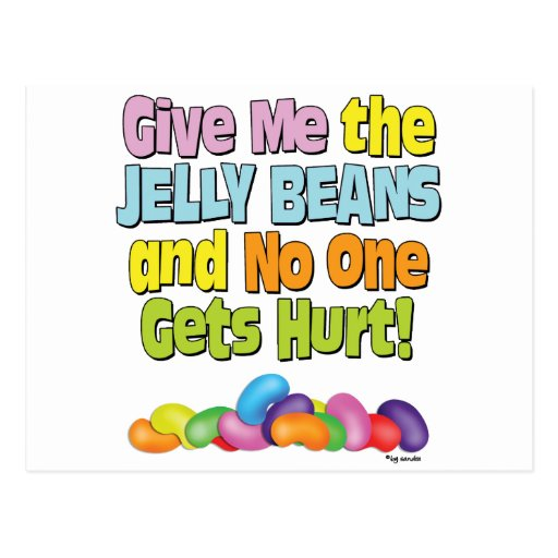 Give me the Jelly Beans Postcard