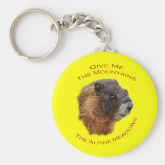 Give Me the Mountains...Marmot Keychain