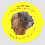 Give Me the Mountains...Marmot Classic Round Sticker