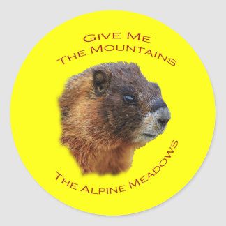 Give Me the Mountains...Marmot Stickers