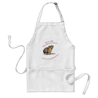 Give Me The Mountains...Pika Adult Apron