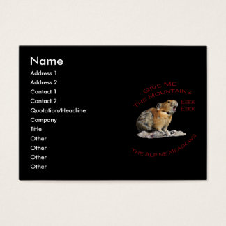 Give Me The Mountains...Pika Business Card
