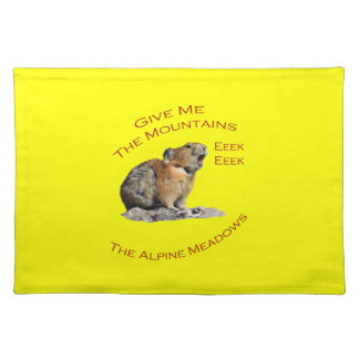 Give Me The Mountains...Pika Cloth Placemat