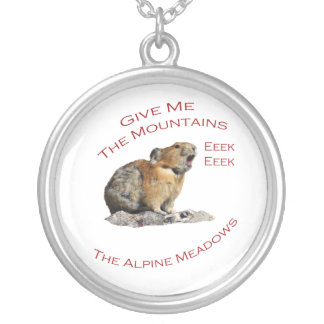 give me the mountains, the alpine meadows personalized necklace