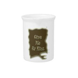 Give Me Ur Kiss Nice Design Drink Pitcher