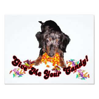Give Me Your Candy Dachshund and Candy Card