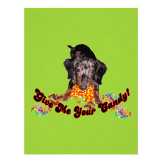 Give Me Your Candy Dachshund and Candy Letterhead