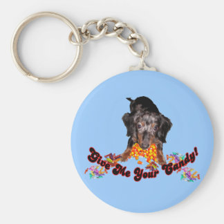Give Me Your Candy Dachshund with Candy Keychain