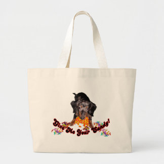 Give Me Your Candy Dachshund with Candy Large Tote Bag