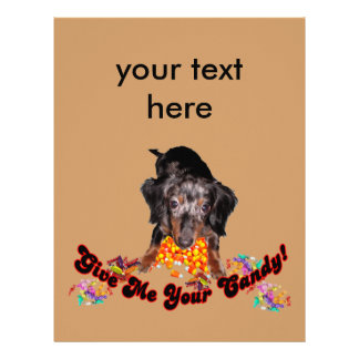 Give Me Your Candy Dachshund with Candy Letterhead
